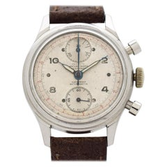Vintage Olympic Chronograph Stainless Steel Watch, 1950s
