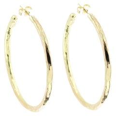 Ippolita Glamazon 18 Karat Yellow Gold Large Hoop Earrings