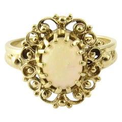 14 Karat Yellow Gold Opal Ring