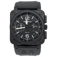 Certified Authentic Bell & Ross BR 033888; Millimeters Black Dial