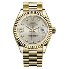 Certified Authentic Rolex Datejust25500, Silver Dial