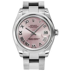 Certified Authentic Rolex Datejust6696, Pink Dial