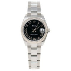 Certified Authentic Rolex Datejust5810, Millimeters Black Dial