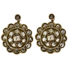 Diamonds 9 Karat Yellow Gold Stud Earrings