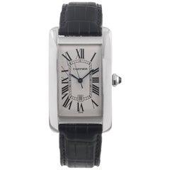 Cartier Tank Americaine White Gold Wristwatch Ref 1741