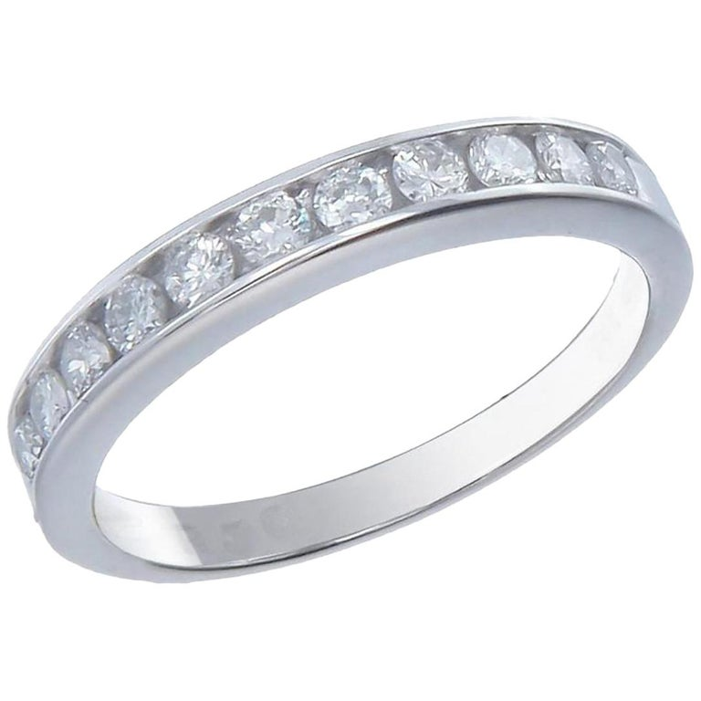 Cartier 1895 Wedding Band Platinum Diamonds Ring For Sale At 1stdibs