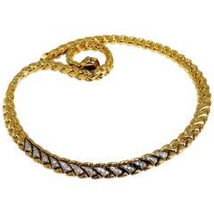 Chimento Natural .80 Carat Diamonds Wreath Linked Necklace 18 Karat Italian