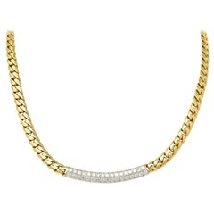 Cartier 1.70 Carat Diamond 18 Karat Two-Tone Gold Necklace