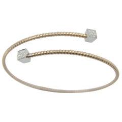 K DI Kuore 18 Karat Gold 6.6 Gr and 0.18 Carat Diamonds Bangle Bracelet