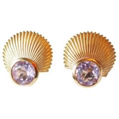 18k gold Earrings Pink Tourmaline