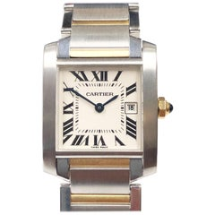 Cartier Tank Francaise Ladies Steel and Yellow Gold Quartz Wristwatch