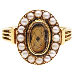 Victorian Seed Pearl 18 Karat Gold Ring