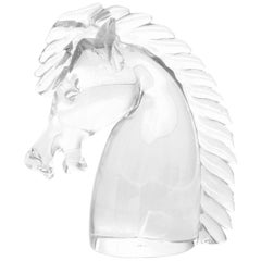 Cartier Crystal Horse Head Figurine