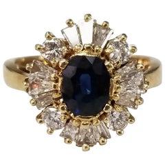 "Sapphire and Diamond ""Ballerina"" Ring"