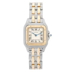 Cartier Panther Ladies 2-Tone 2-Row Steel and Gold Watch W25029B6