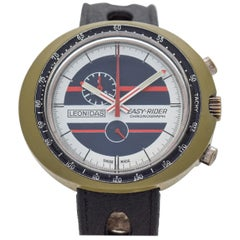 Vintage Leonidas Easy Rider 1-Register Chronograph with a Plastic Case, 1970s