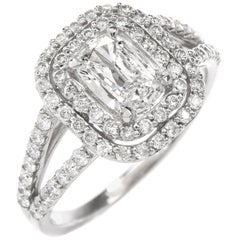GIA Diamond Cushion Brilliant Platinum Engagement Ring