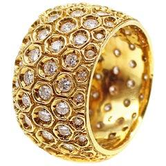 Impressive Diamond 18 Karat Yellow Gold Eternity Band