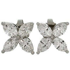 Tiffany & Co. Victoria Diamond Platinum Large Earrings
