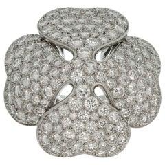 Cartier Anniversary Edition 10 Carat Diamond White Gold Clover Ring