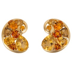 Vintage Seaman Schepps Citrine and Gold Earrings