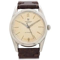 Vintage Universal Geneve Stainless Steel Watch, 1956