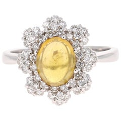 2.36 Carat Tourmaline Diamond 14 Karat White Gold Ring