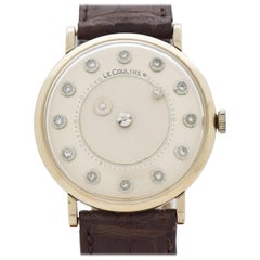 Vintage Jaeger-LeCoultre Mystery Dial 14 Karat White Gold Watch, 1960s