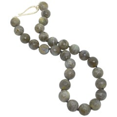 Decadent Jewels Blue Labradorite Silver Necklace