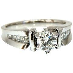 .87 Carat Natural Round Diamond Engagement Ring 14 Karat