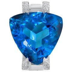 Ring aus Weißgold von Alex Soldier mit blauem Topas, Turmalin und Diamanten, Unikat