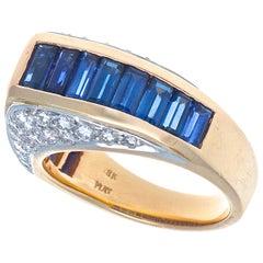 Oscar Heyman Brothers Sapphire Diamond Gold Ring