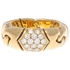 Bulgari Diamond Gold Ring