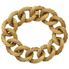 Bulgari 1960s Large Open Link Gold Bracelet