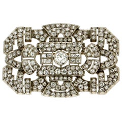 10 Karat Diamonds 18 Karat White Gold Brooch