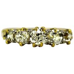 Antique Victorian 15 Karat Gold Ladies Ring with Diamonds, circa 1880