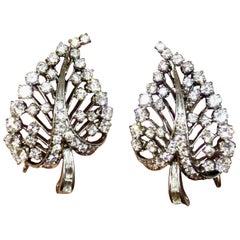Art Deco Platinum VS Diamond Brilliant Baguette Drop Earrings