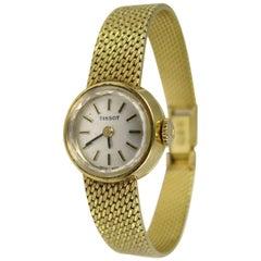 18 Karat Yellow Gold Tissot Wristwatch Ladies Watch