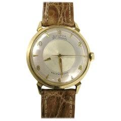Bulova 14 Karat Yellow Gold Mystery Self Winding Men's Wristwatch, 1958