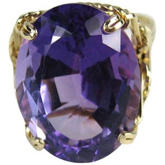 14 Karat Gold 17.25 Carat Amethyst Ring