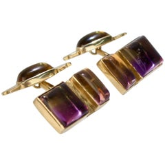 Isabelle Posillico Ametrine and Yellow Gold Cufflinks