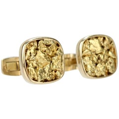 Pair of American Gold Nugget Cufflinks