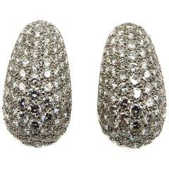 Van Cleef & Arpels Diamond Platinum Bombe Ear Clips