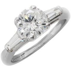 1.19 Carat GIA Graded Platinum Diamond Engagement Ring