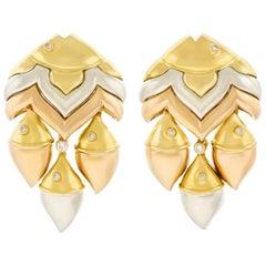 "Bulgari ""Naturalia"" Gold Earrings"