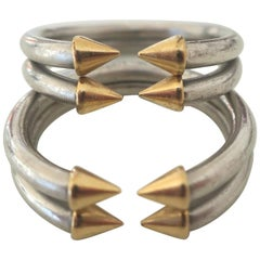 Bulgari Platinum Stacking Rings Jewelry, circa 1970
