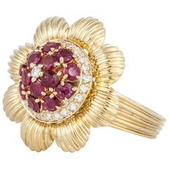 Chantecler 18 Karat Ruby Diamond Ring