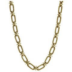Tiffany & Co. Woven Gold Sautoir Necklace