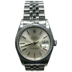 Rolex Datejust 16220 Silver Index Dial Stainless Steel
