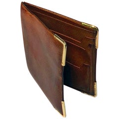 Gold and Leather Dunhill Wallet, London, 1967